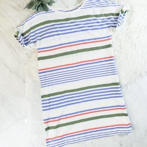 Lou & Grey Multi Color Stripe Stripewash Tee Dress
